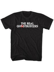The Real Ghostbusters Animated TV Series Text Logo Adult T-Shirt Tee
