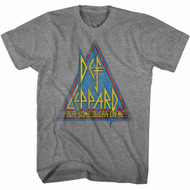 Def Leppard 1980's Heavy Hair Metal Band Primary Triangle Adult T-Shirt Tee