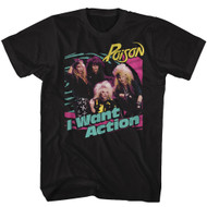 Poison American Rock Band Rock Band Bright I Want Action Adult T-Shirt Tee