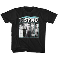 NSYNC 1995 Boy Band Blue Flame Profile Pictures Youth T-Shirt Tee