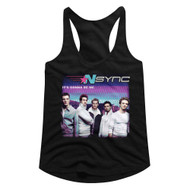 NSYNC 1995 Boy Band Group Photo It's Gonna Be Me Ladies Racerback Tank Top Tee