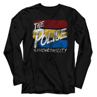 The Police Rock Band Sync Inverted Synchronicity Adult Long Sleeve T-Shirt Tee