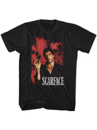 Scarface 1980's Gang Crime Classic Movie Cityscape Vintage Adult T-Shirt Tee