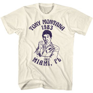 Scarface 1980's Gang Crime Movie Tony Montana Miami '83 Vintage Adult TShirt Tee