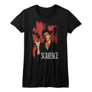Scarface 1980's Gang Crime Classic Movie Cityscape Vintage Juniors T-Shirt Tee