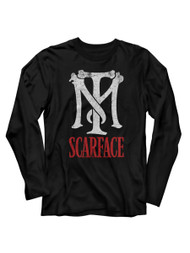 Scarface 1980's Gang Crime Classic Movie TM Vintage Adult Long Sleeve TShirt Tee