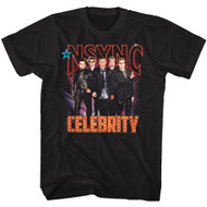 NSYNC 1995 Boy Band Group Shot Photo Celebrity in Lights Adult T-Shirt Tee