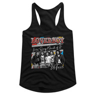Loverboy 1979 Canadian Rock Band Lovin Every Min Tour Ladies Racerback Tank Top