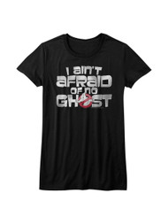 The Real Ghostbusters Animated TV Series Ain't Afraid Juniors T-Shirt Tee