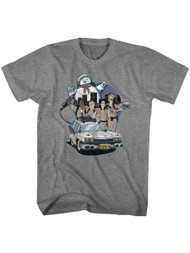 The Real Ghostbusters Animated TV Series Bustin' Buddies Adult T-Shirt Tee