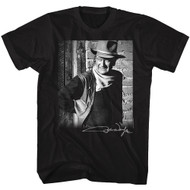John Wayne American Legend Hollywood Icon Actor Portrait Pic Adult T-Shirt Tee