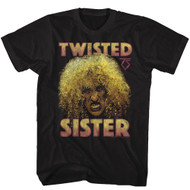 Twisted Sister Heavy Metal Band Big Curly Hair Dee Snider Adult T-Shirt Tee
