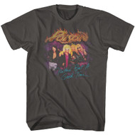 Poison 1980s American Rock Band Nothin But A Good Time Smoke Adult T-Shirt Tee