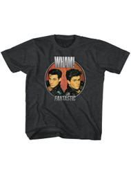 Wham English Music Duo Fantastic Circle Blk Heather Toddler Little Boys T-Shirt