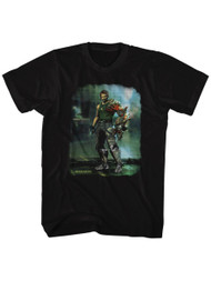 Bionic Commando Arcade Video Game Mechanical Robot Damaged Road Adult T-Shirt