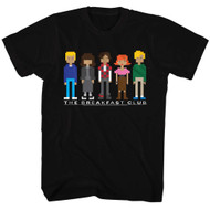 Breakfast Club 1985 Comedy Drama Group Cast Adult T-Shirt 80s Movie Pixels