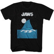 Jaws 1970's Shark Thriller Spielberg Movie Amity Island Sailing Adult T-Shirt