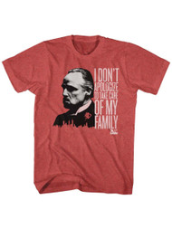 Godfather 1970's Mafia Mobster Movie I Don't Apologize Adult T-Shirt Tee