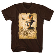 John Wayne Hollywood Icon Actor Worn Out Poster Adult T-Shirt Tee