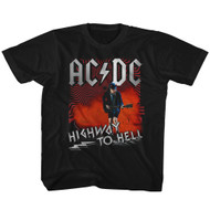 ACDC Heavy Metal Rock Band Highway to Hell Guitarist Black Toddler T-Shirt Tee