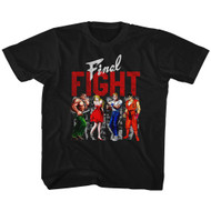 Final Fight Side-Scrolling Beat-'em Up Video Game Panels Blk Youth T-Shirt Tee