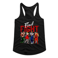 Final Fight Side-Scrolling Beat-'em Up Video Game Panels Blk Ladies Tank Top Tee