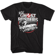 The Real Ghostbusters Animated Series The Car Black Adult T-Shirt Tee