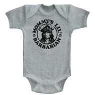 Conan Sword&Sorcery Hero Mommy's Little Barbarian Gray Hthr Infant Baby Snapsuit