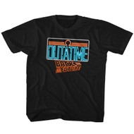 Back To The Future Fantasy ScyFy Movie Neon Outatime Sign Blk Toddler TShirt Tee