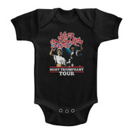 Bill & Ted Comedy Film Series Most Triumphant Tour Black Infant Baby Snapsuit