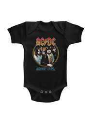 ACDC Highway To Hell Tricolor Black Infant Baby Creeper Snapsuit Romper