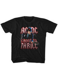 ACDC Heavy Metal Rock Band Shoot To Thrill Black Youth T-Shirt Tee