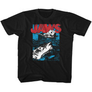 Jaws 1975 Drama Mystery Film Movie Great White Black Youth T-Shirt Tee