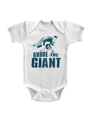 Andre The Giant Andre The Giant White Infant Baby Creeper Snapsuit Romper