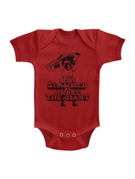 Andre The Giant Bodyslam Red Infant Baby Creeper Snapsuit Romper