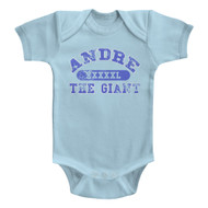 Andre The Giant Andre The Giant Light Blue Infant Baby Creeper Snapsuit Romper