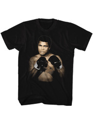 Muhammad Ali 1137 A3 Black Adult T-Shirt Tee