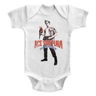Ace Ventura Red Black Blue Ace White Infant Baby Creeper Snapsuit Romper