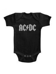 ACDC Noise Pollution Black Infant Baby Creeper Snapsuit Romper