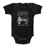 ACDC About To Rock Black Infant Baby Creeper Snapsuit Romper