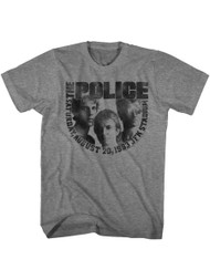 The Police Aug20 Graphite Heather Adult T-Shirt Tee