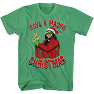 Macho Man Machomas Kelly Heather Adult T-Shirt Tee