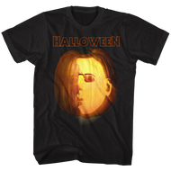 Halloween Jackolantern Black Adult T-Shirt Tee