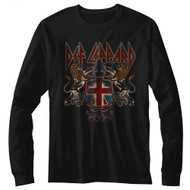 Def Leppard 1980's Heavy Hair Metal Band Defcrest Adult Long Sleeve T-Shirt Tee