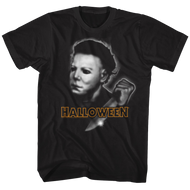 Halloween Airbrush Black Adult T-Shirt Tee