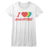 Smarties Wrapped Sugar Candy I Heart Juniors T-Shirt Tee