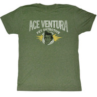 Ace Ventura: Pet Detective Comedy Movie Distressed Logo Adult T-Shirt Tee
