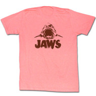 Jaws 1970 Shark Thriller Spielberg Movie Neon Jaws Mouth Teeth Adult T-Shirt Tee