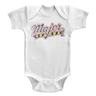 Major League Sports Comedy Baseball Movie Logo Solid Infant Baby Romper Snapsuit