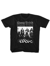 Cheap Trick Rock Band Motorcycle Black Toddler Little Boys T-Shirt Tee